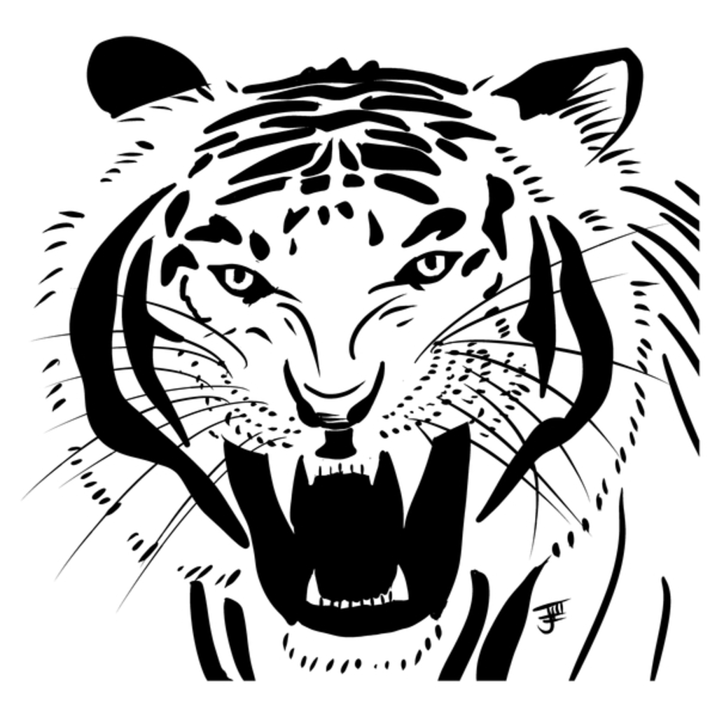 NeatoShop: Inktober Day 14: FIERCE - White Tiger