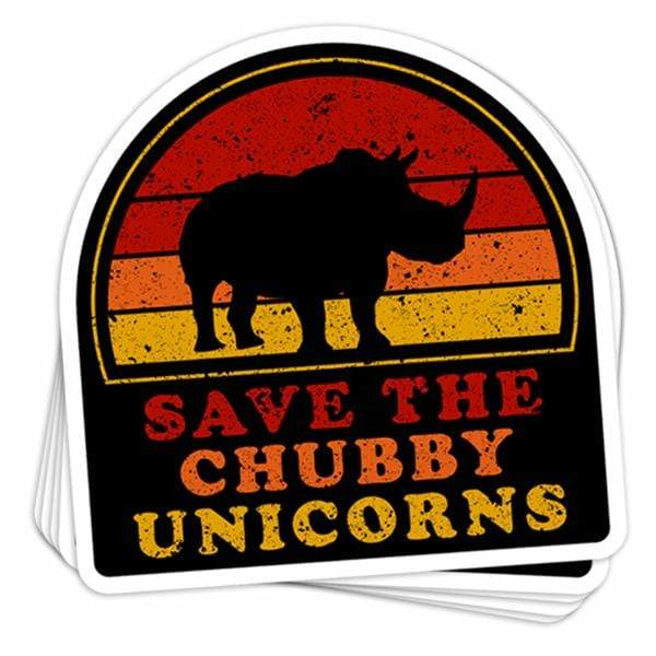 BustedTees: Save The Chubby Unicorns Vinyl Sticker