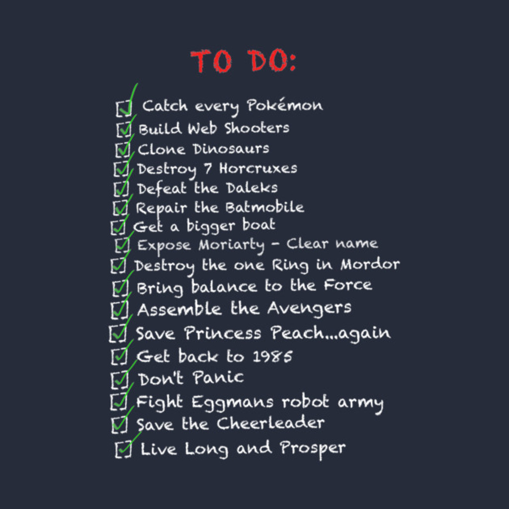 TeePublic: 'To Do' List T-Shirt