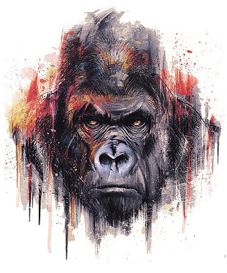 Qwertee: Gorilla Alpha