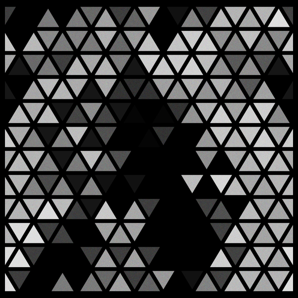 NeatoShop: Geometric Fractal Triangles Black Noir