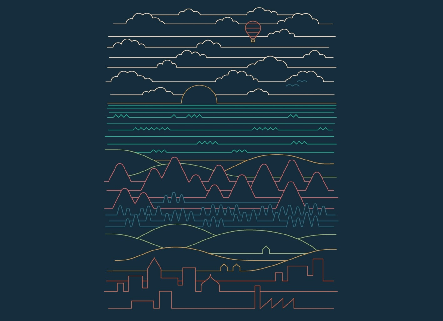 Threadless: Linear Landscape