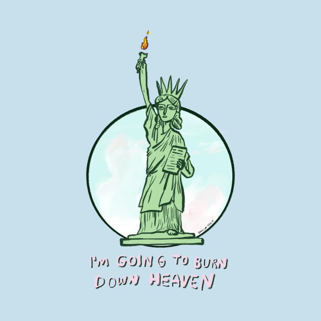 TeePublic: Lady Liberty