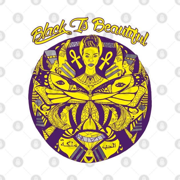 TeePublic: Yellow Purple Butterfly Goddess Black Is Beautiful
