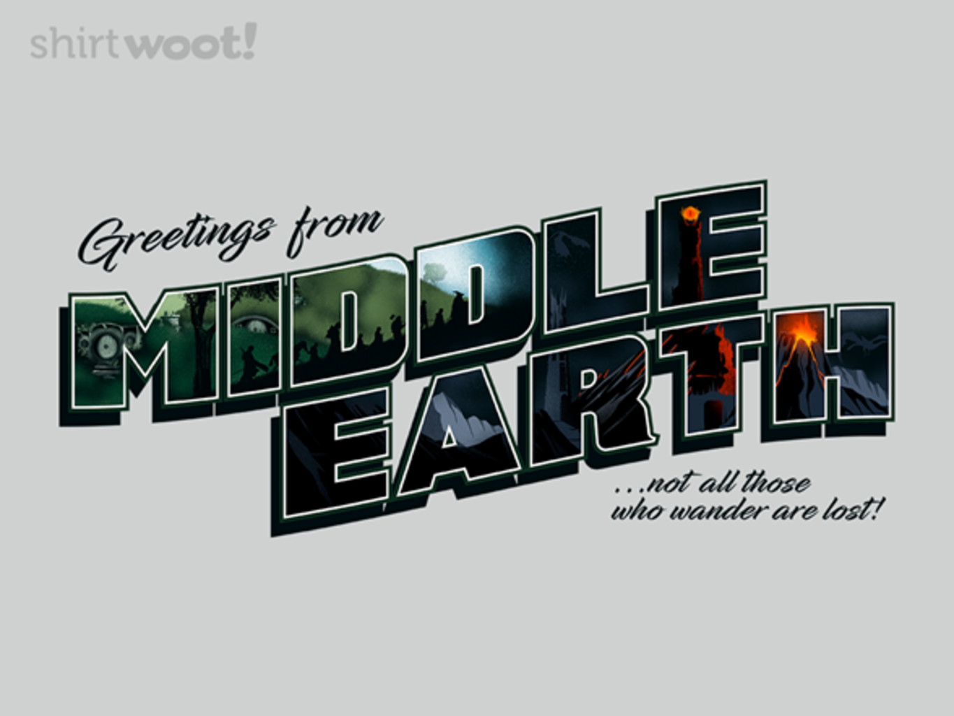 Woot!: Greetings from Middle Earth - $8.00 + $5 standard shipping