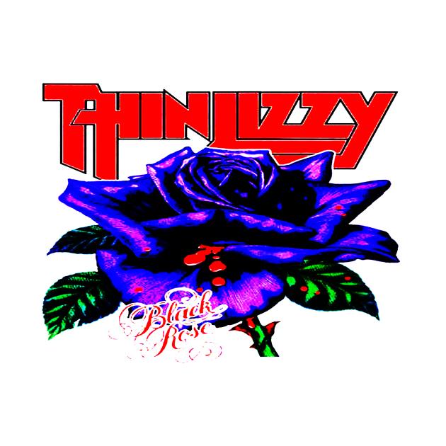 TeePublic: Thin Lizzy Black Rose 1979