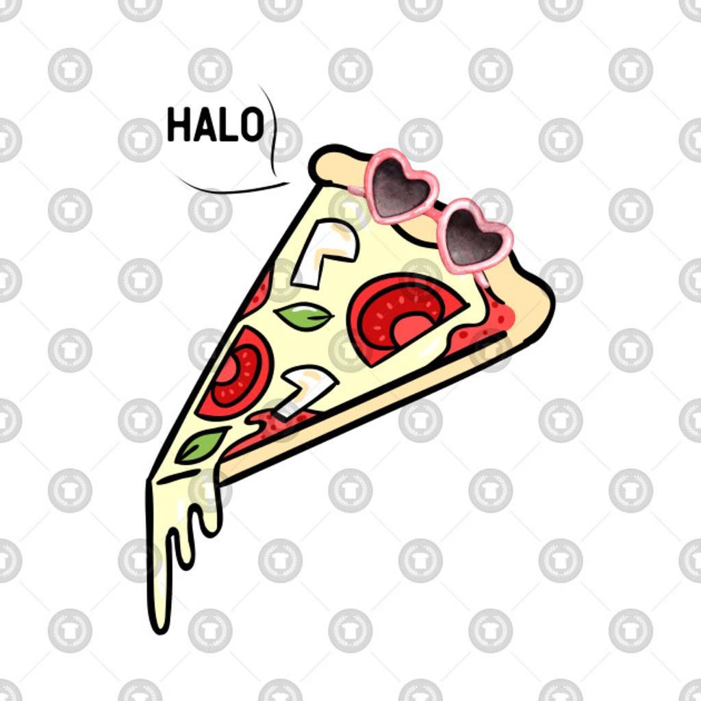 TeePublic: Pizza Say Halo!