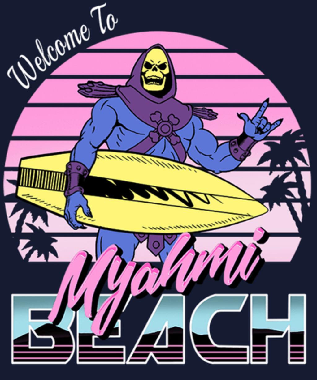Qwertee: Welcome To Myah'mi Beach