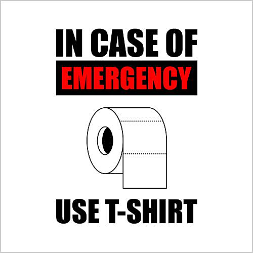Five Finger Tees: In Case Of Emergency Use T-Shirt