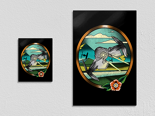 "Woot!: ""Striker Spaceship"" Metal Poster"