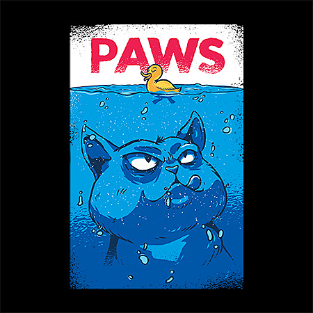 MeWicked: Paws - Cat and Rubber Duck - Jaws Movie Poster Parody