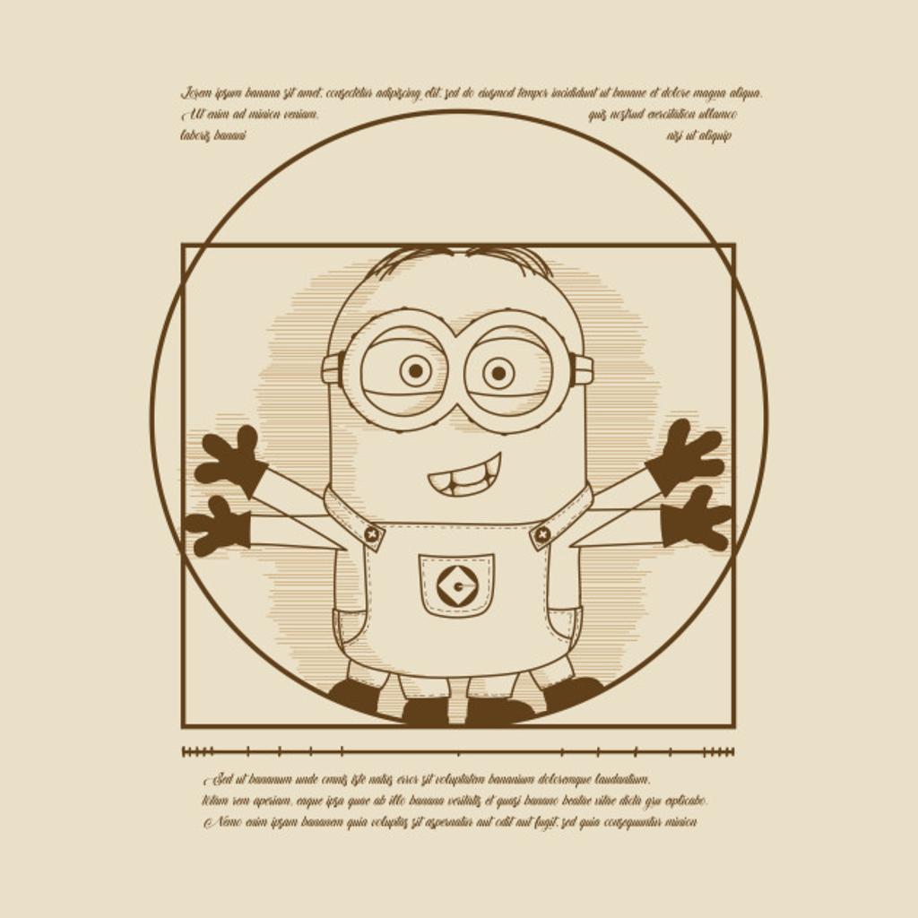 TeePublic: Vitruvian minion
