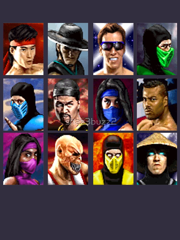 RedBubble: Classic Mortal Kombat II - Select Fighters - Video Game (Retro) Essential T-Shirt