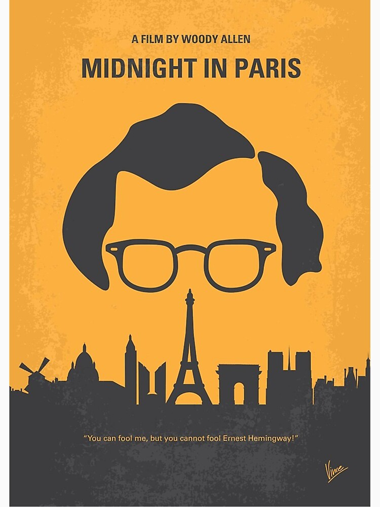 RedBubble: No312- Midnight in Paris minimal movie poster
