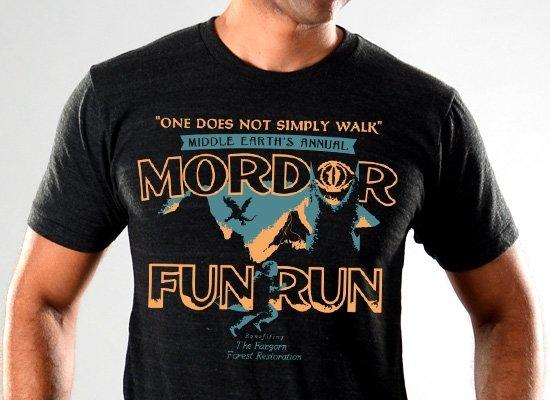 SnorgTees: Mordor Fun Run Limited Edition Tri-Blend