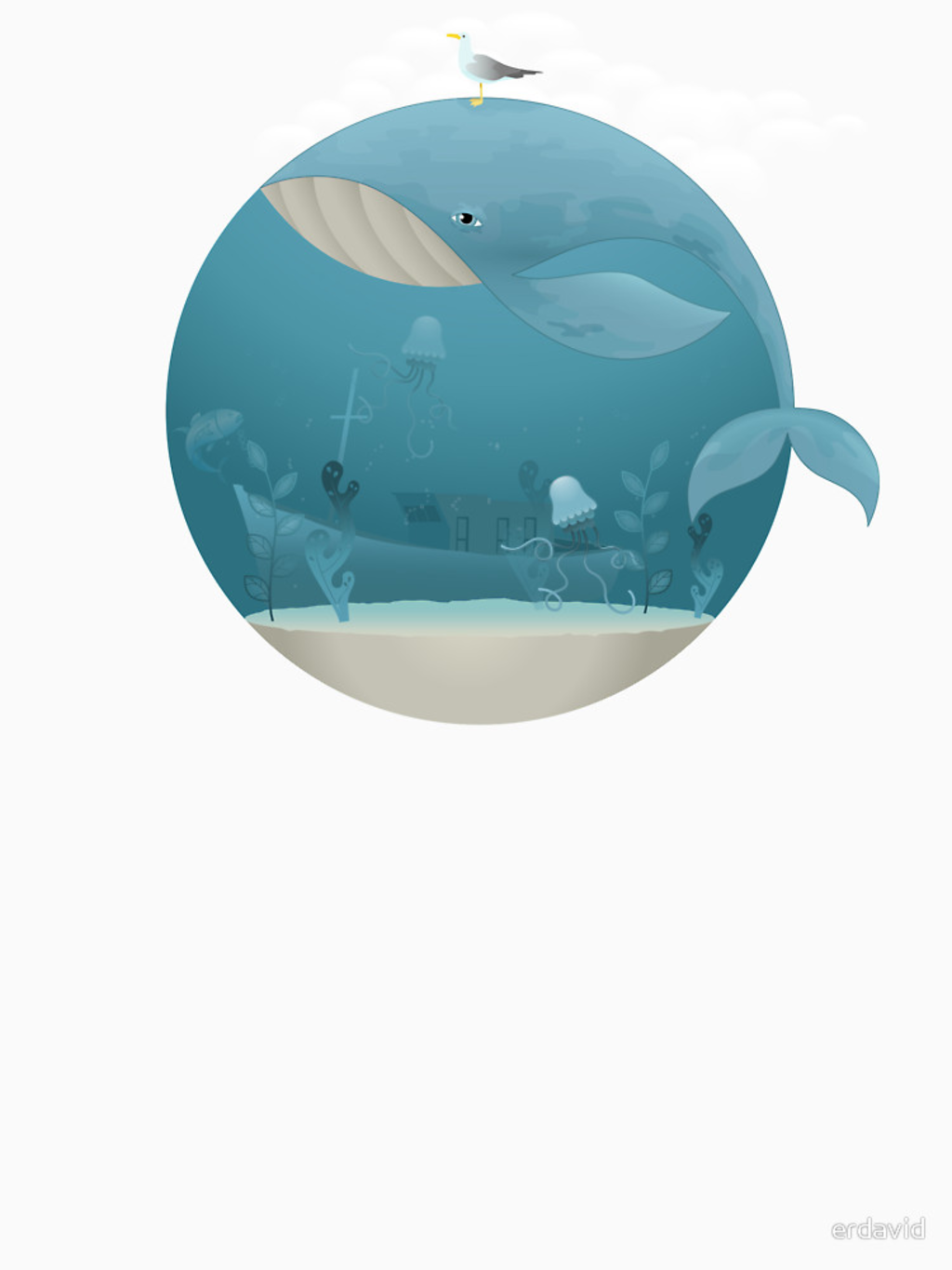 RedBubble: Whale & Jellyfish
