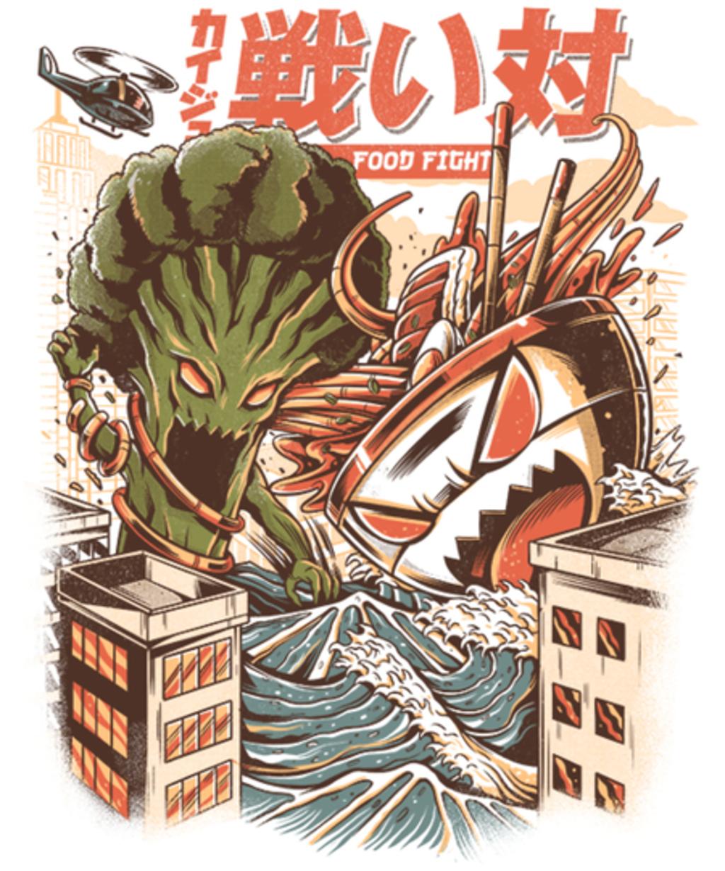 Qwertee: Kaiju Food Fight
