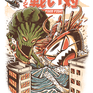 Qwertee: Kaiju Food Fight