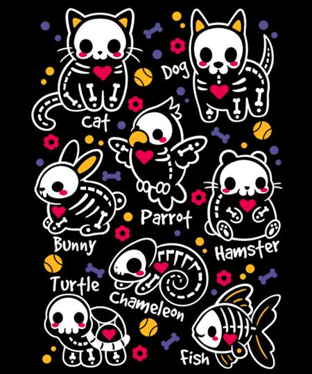 Qwertee: Pet skeletons