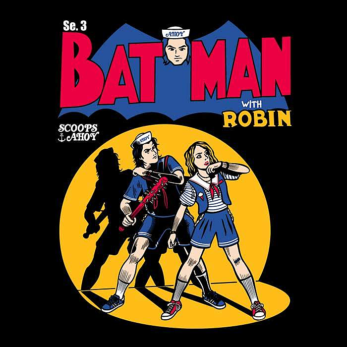 Once Upon a Tee: Bat Man with Robin