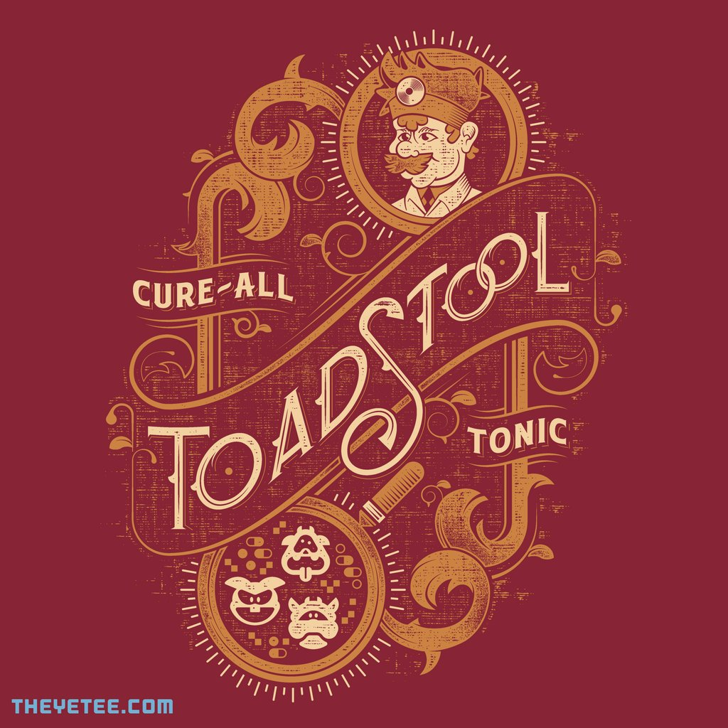 The Yetee: Toadstool Tonic by Mortar Made