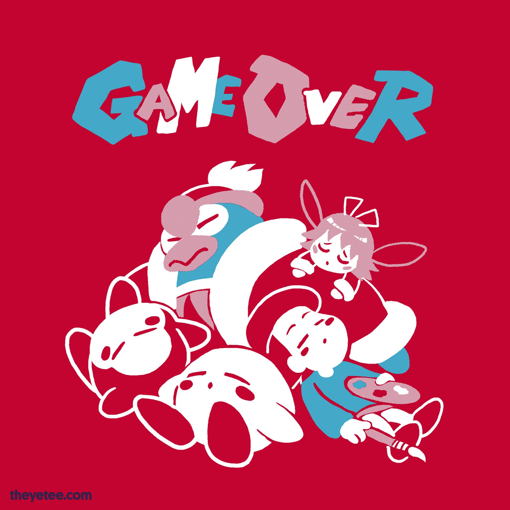 The Yetee: GAME OVER