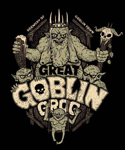 Qwertee: Great Goblin Grog