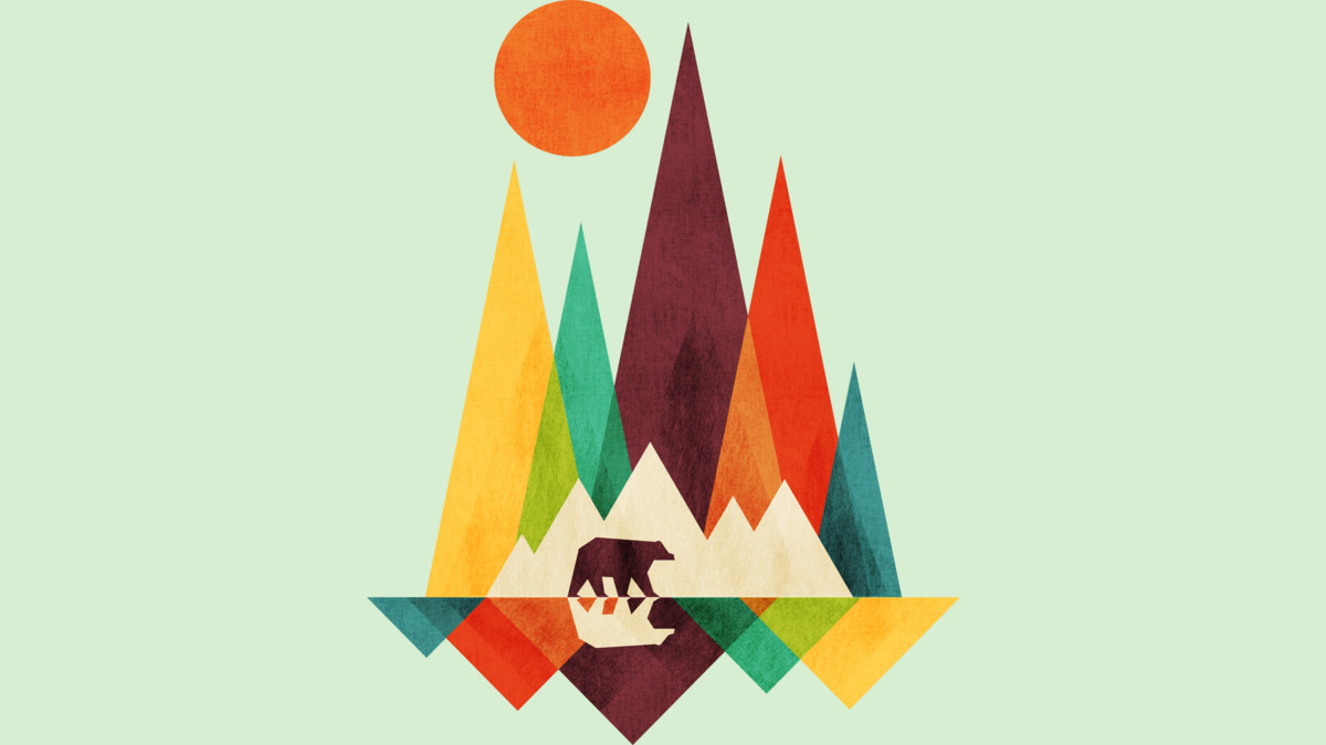 Design by Humans: Mountain Bear