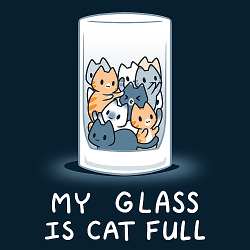 TeeTurtle: My Glass is Cat Full