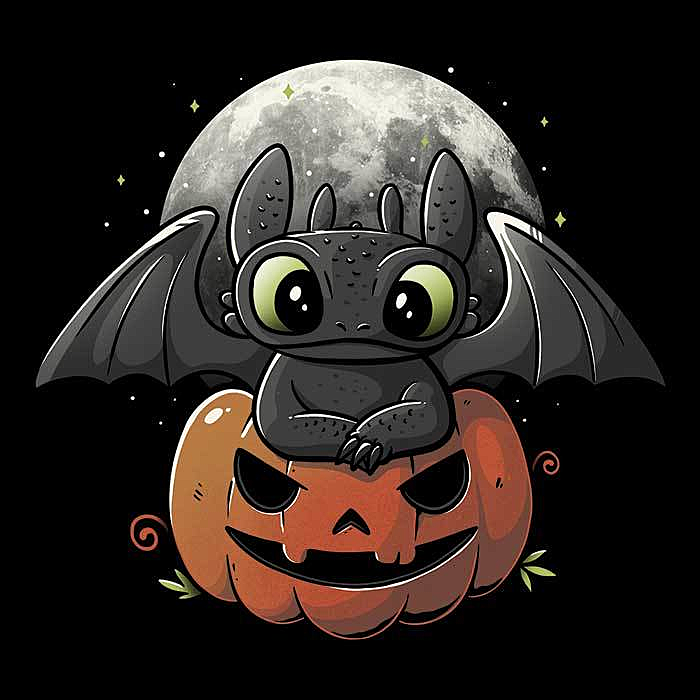 Once Upon a Tee: Spooky Dragon