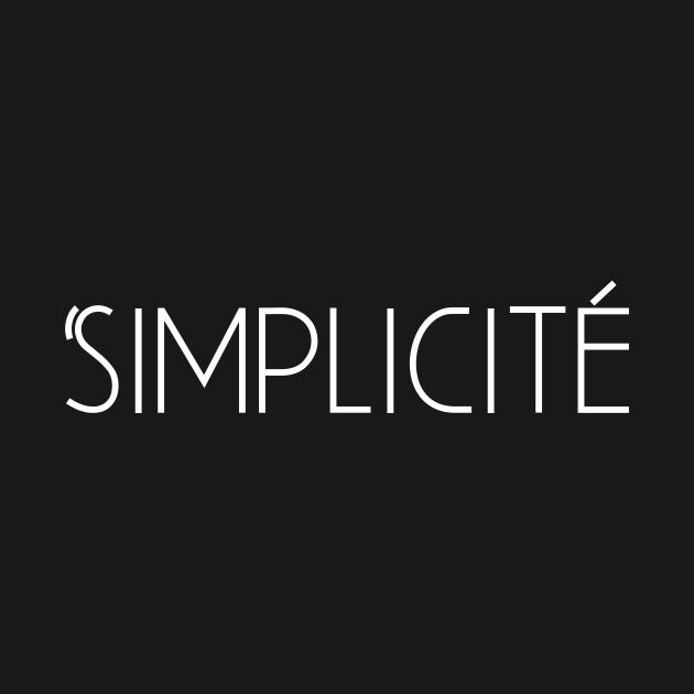 TeePublic: Simplicity Minimalist French Design Simplicité