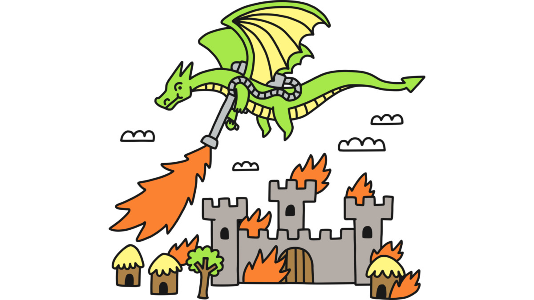 Design by Humans: Dragon With A Flamethrower