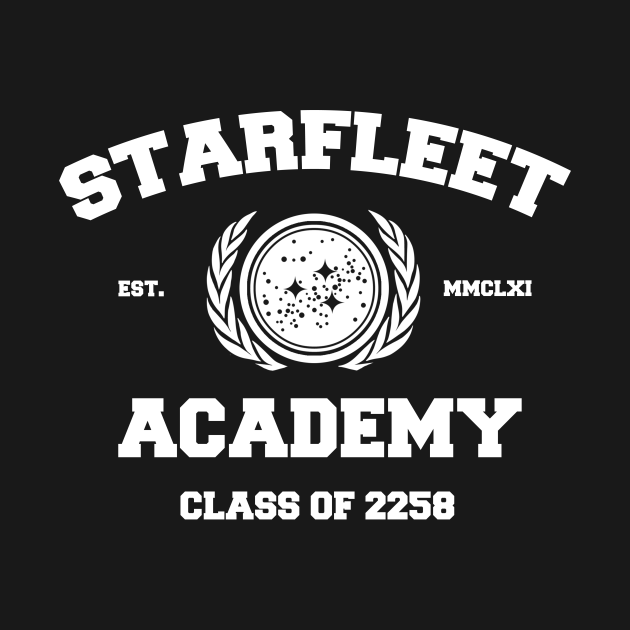 TeePublic: Starfleet Acadmey Class of 2258 White