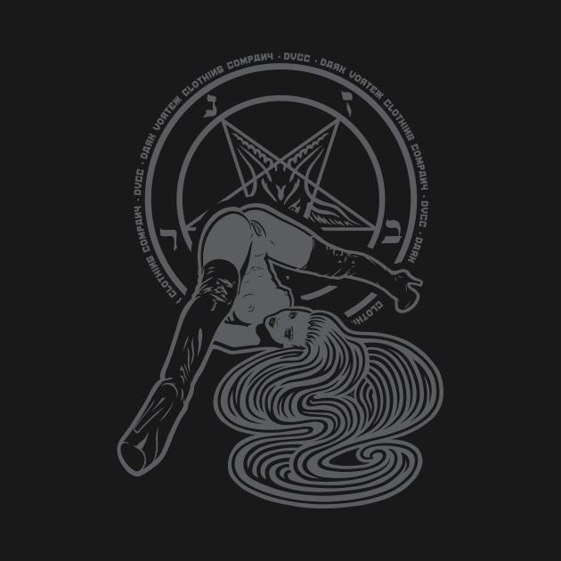 TeePublic: Upside Down Pinup Girl and Pentagram - Dark Vortex Branding