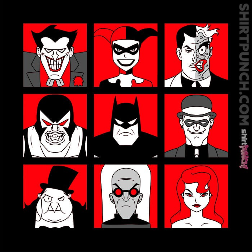 ShirtPunch: Batman Villains