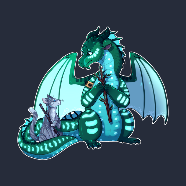 TeePublic: Wings of Fire & Warriors - Turtle and Jayfeather - Stick Bois