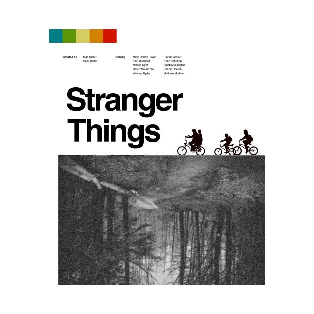 TeePublic: Stranger Things vintage poster