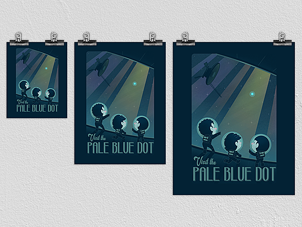 Woot!: The Pale Blue Dot Poster