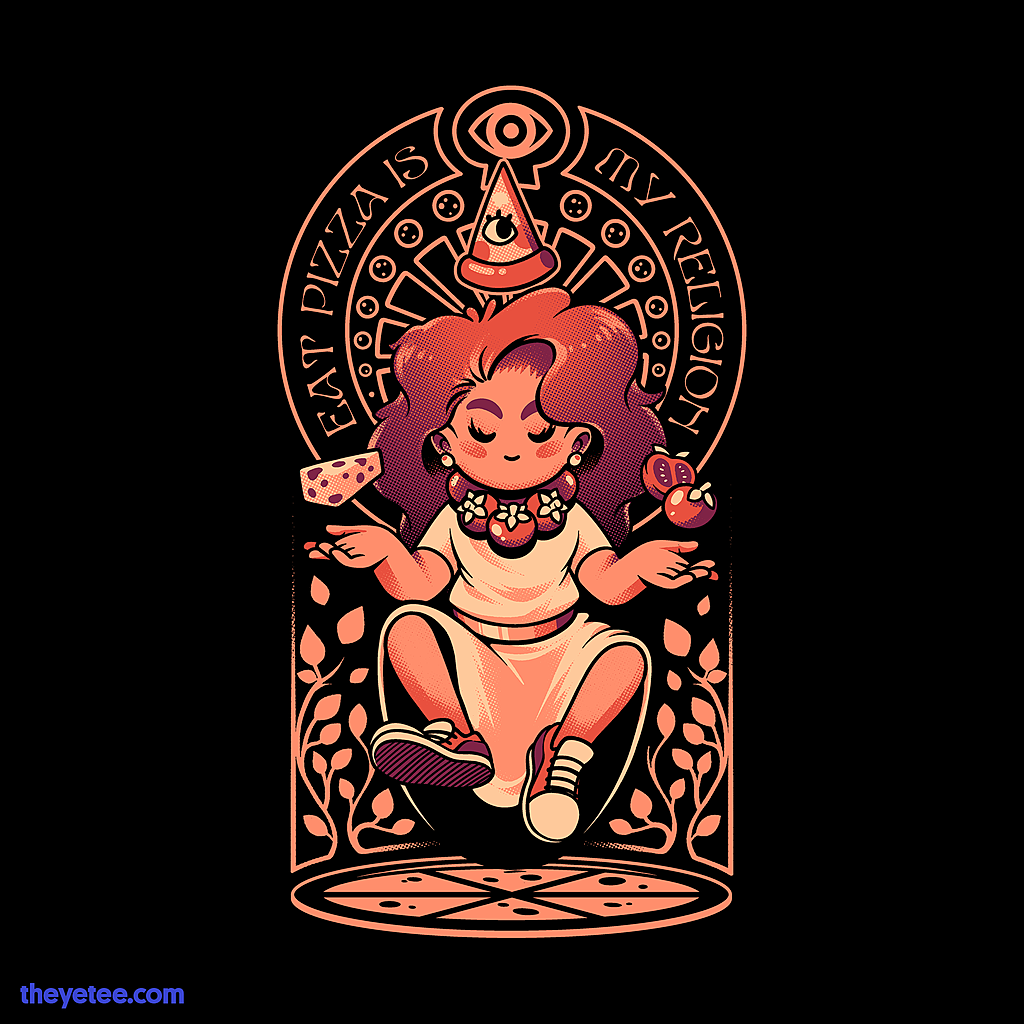 The Yetee: Pizza Goddess
