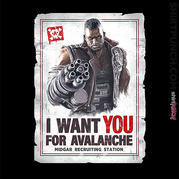 ShirtPunch: Avalanche Wants You