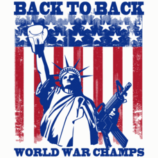 Textual Tees: Back To Back World War Champs