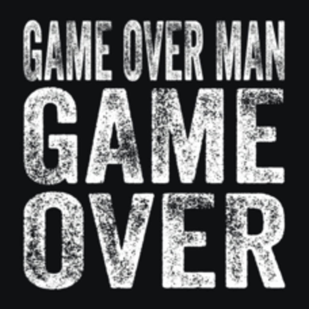 Textual Tees: Game Over Man