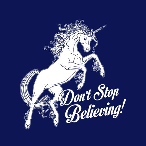 Five Finger Tees: Don't Stop Believing T-Shirt