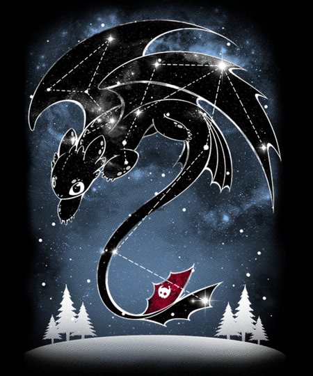 Qwertee: Starry Dragon Sky