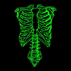Five Finger Tees: Spinal Tap Green Skeleton T-Shirt