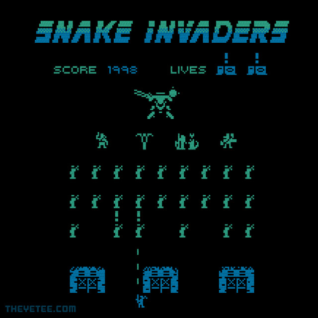The Yetee: Snake Invaders
