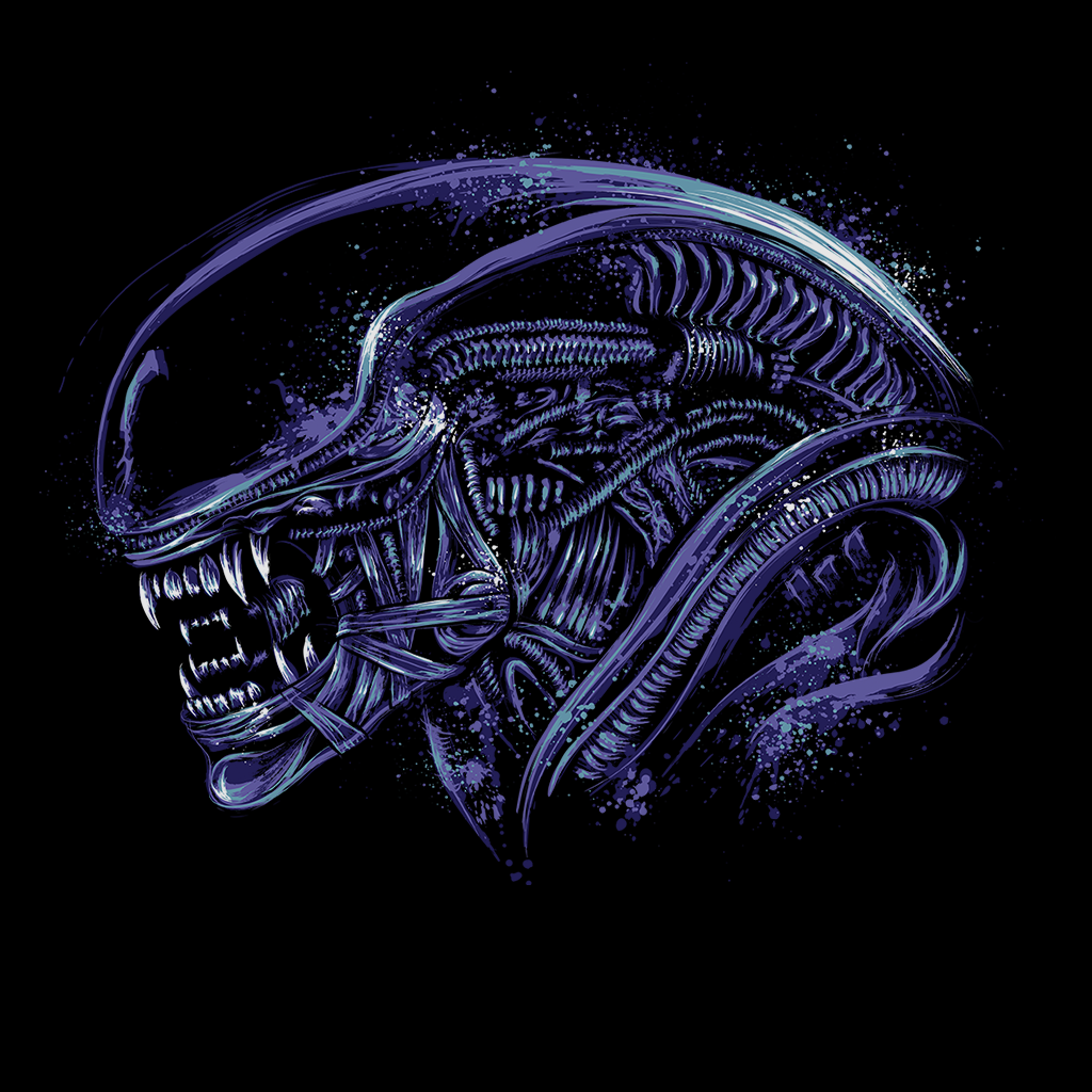Pop-Up Tee: Space Nightmare - Purple Ink