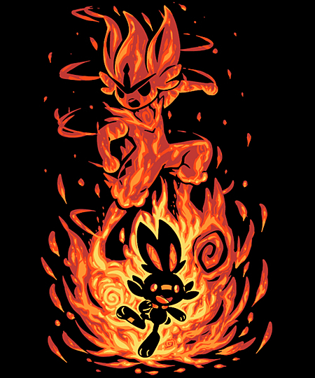 Qwertee: The Fire Bunny Within