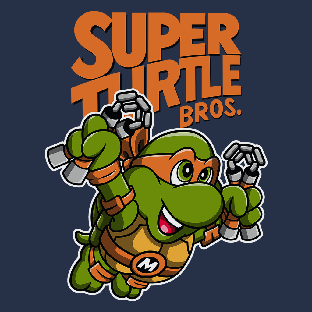 Pop-Up Tee: Super Turtle Bros Mikey