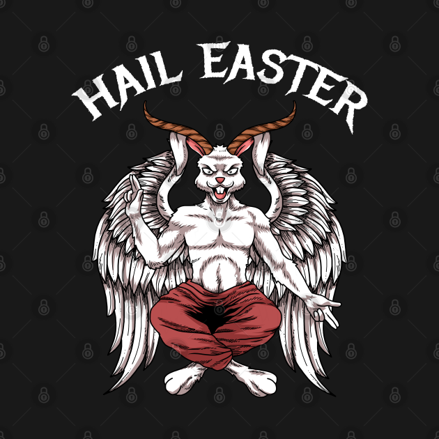 TeePublic: Hail Easter Baphomet Lucifer 666 Satanism Hail Satan